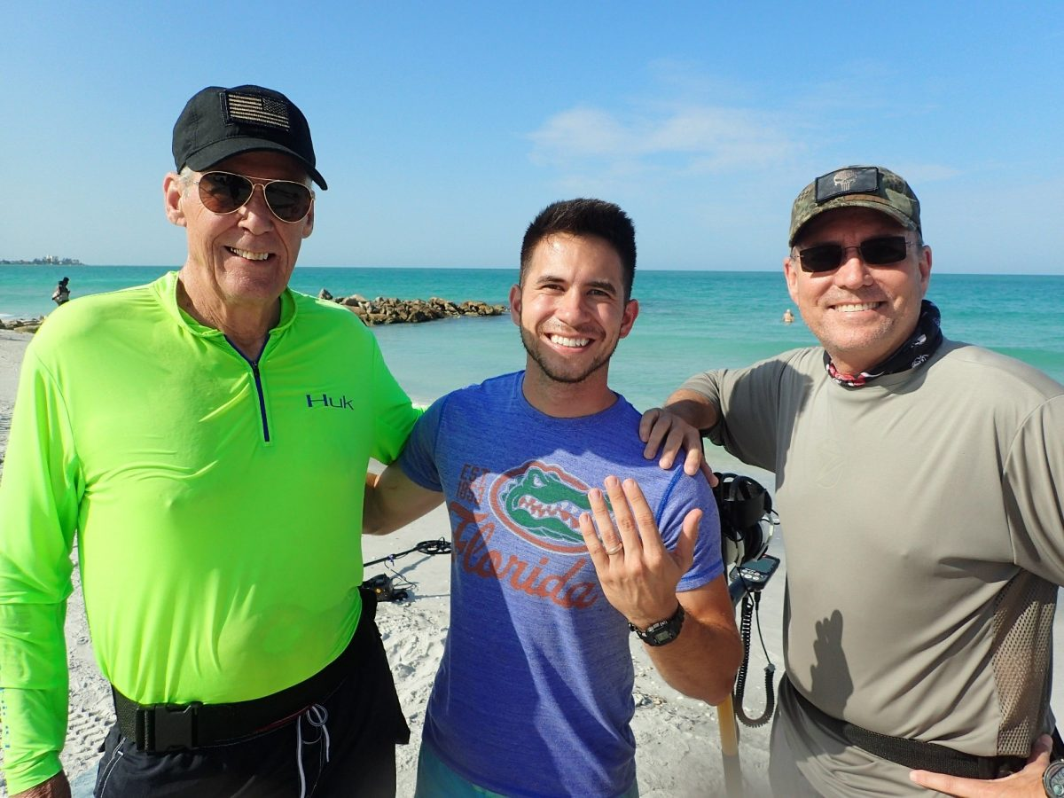 Lido Key Beach Lost Ring Recovered By SRARC